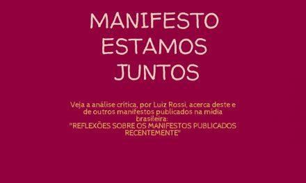 """MANIFESTO """"ESTAMOS JUNTOS"""""""